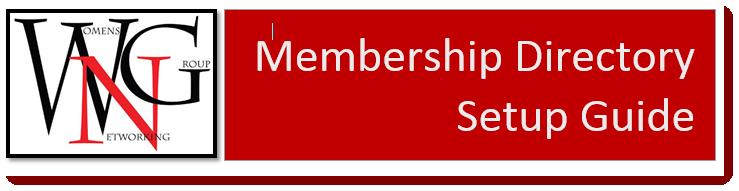 Membership Directory Setup Guide