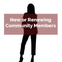 New or renewing community members